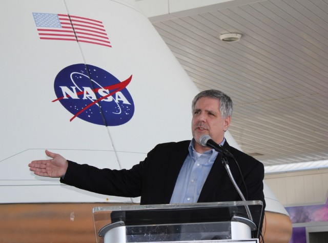 Rob Pietsch speaking at Cape Canaveral NASA