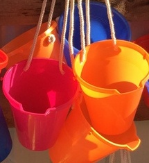 Buckets waiting. Open Saturday and Sunday, 9 am to 6 pm.