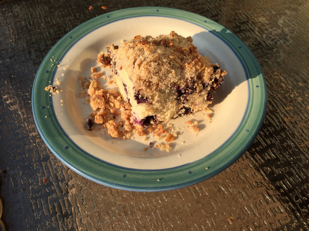 Blueberry Streusel Cake Recipe; hours for this week