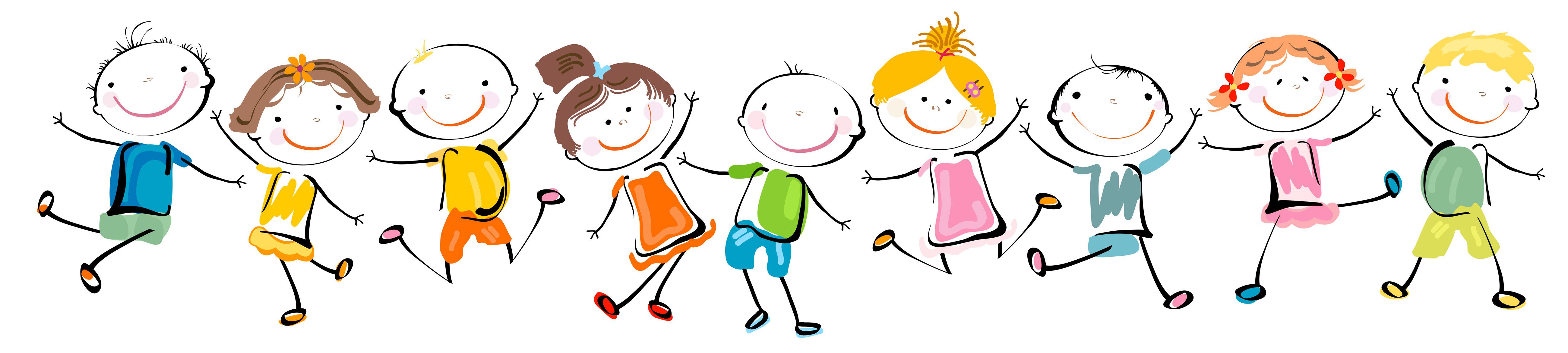 Happy Kids Cartoon Panorama