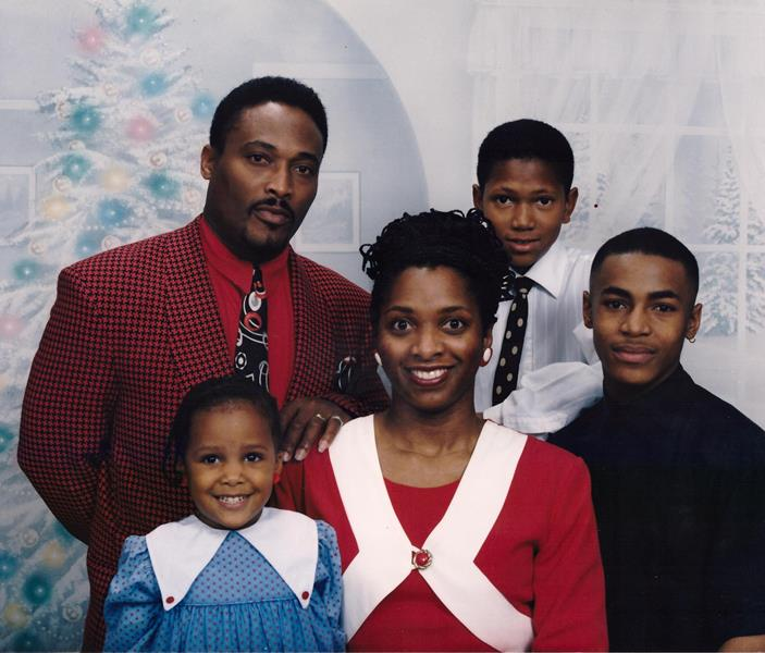 Arba Tucker, James Tucker Jr., James Tucker III, Justin Gibson and Jairese Tucker