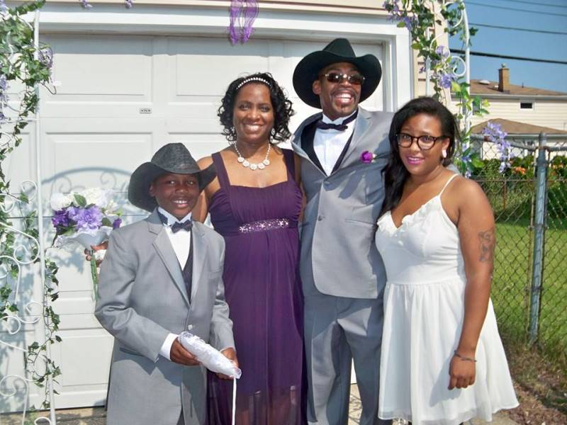 Arba Tucker marries Richard Cooper (also shown Ian Cooper & Jairese Tucker)