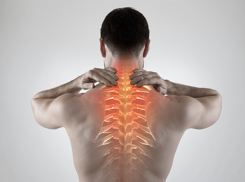 Sports injuries can cause pain in the neck and spine