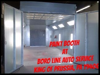 Paint Booth at Boro Line Auto Service