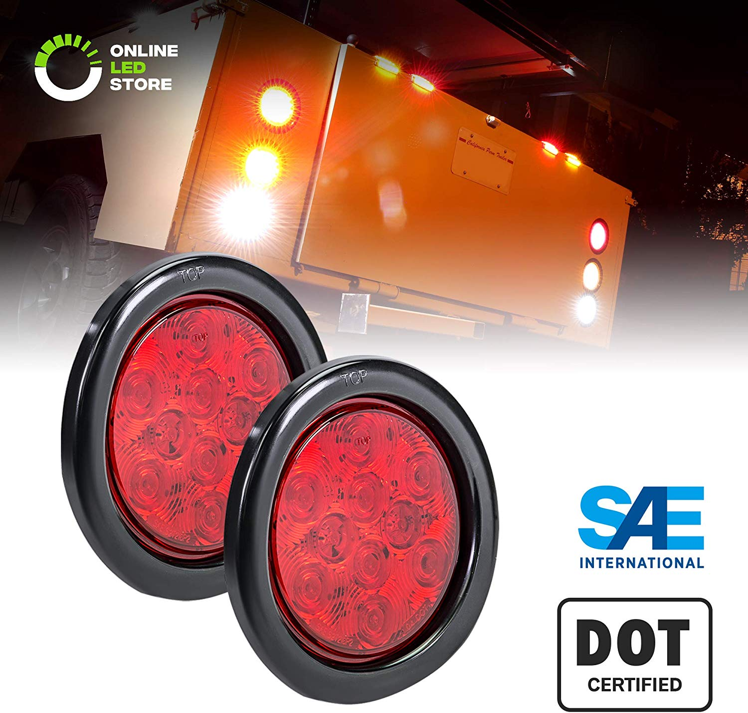 "Light 4"" Round for Flatbed Trailer"