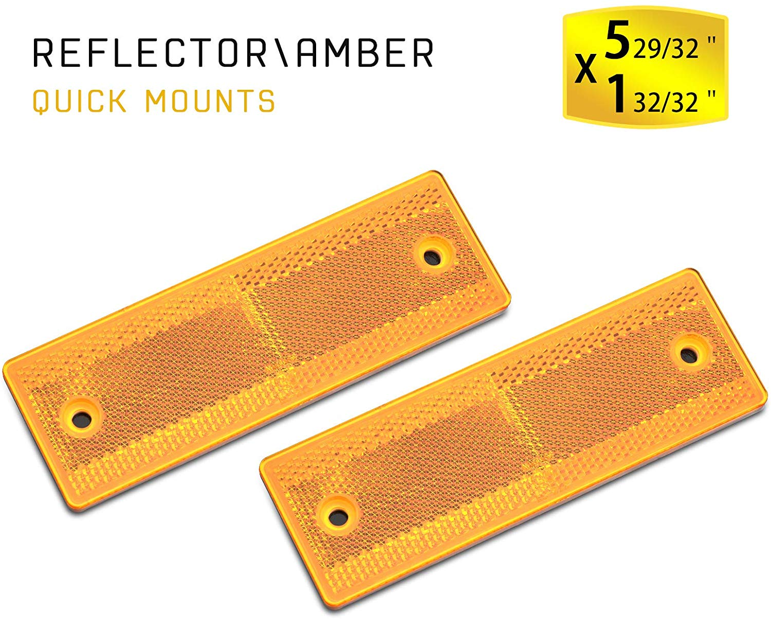 Reflectors for Trailer Amber 5.9x1.96