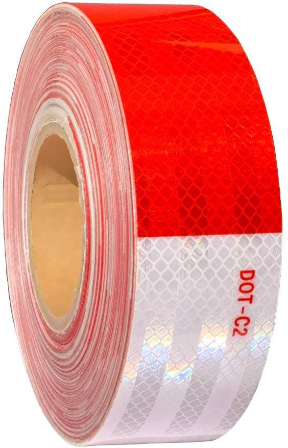 DOT Tape Silver & Red Reflective Tape